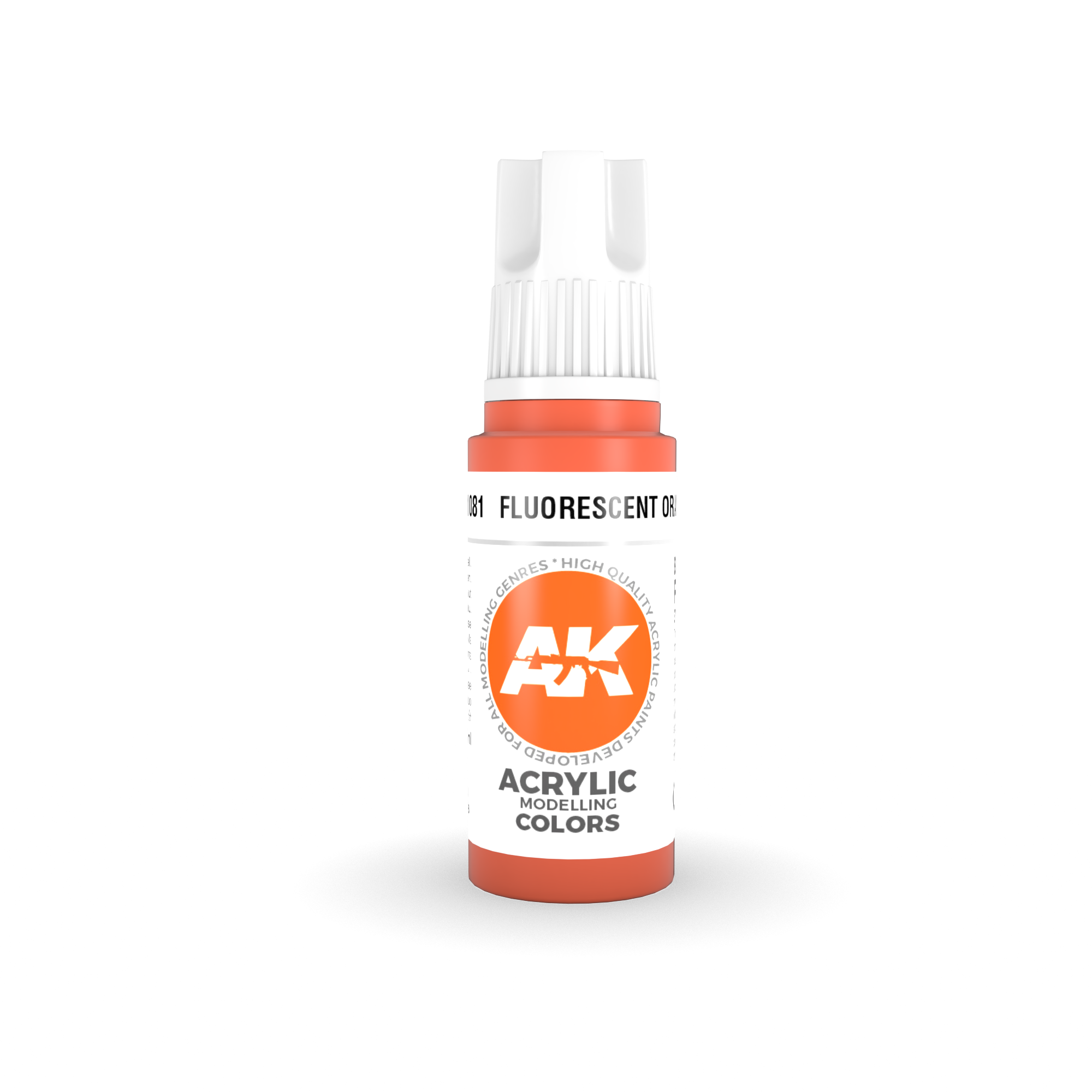 AK Interactive 3rd Gen Acrylic Fluorescent Orange 17ml