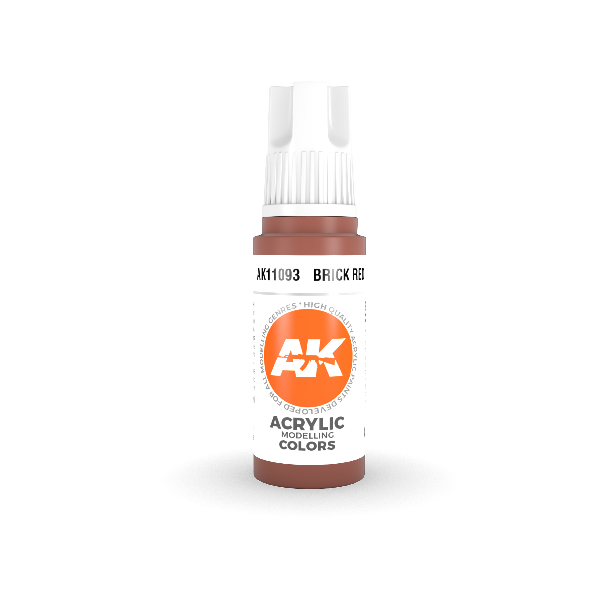 AK Interactive 3rd Gen Acrylic Brick Red 17ml