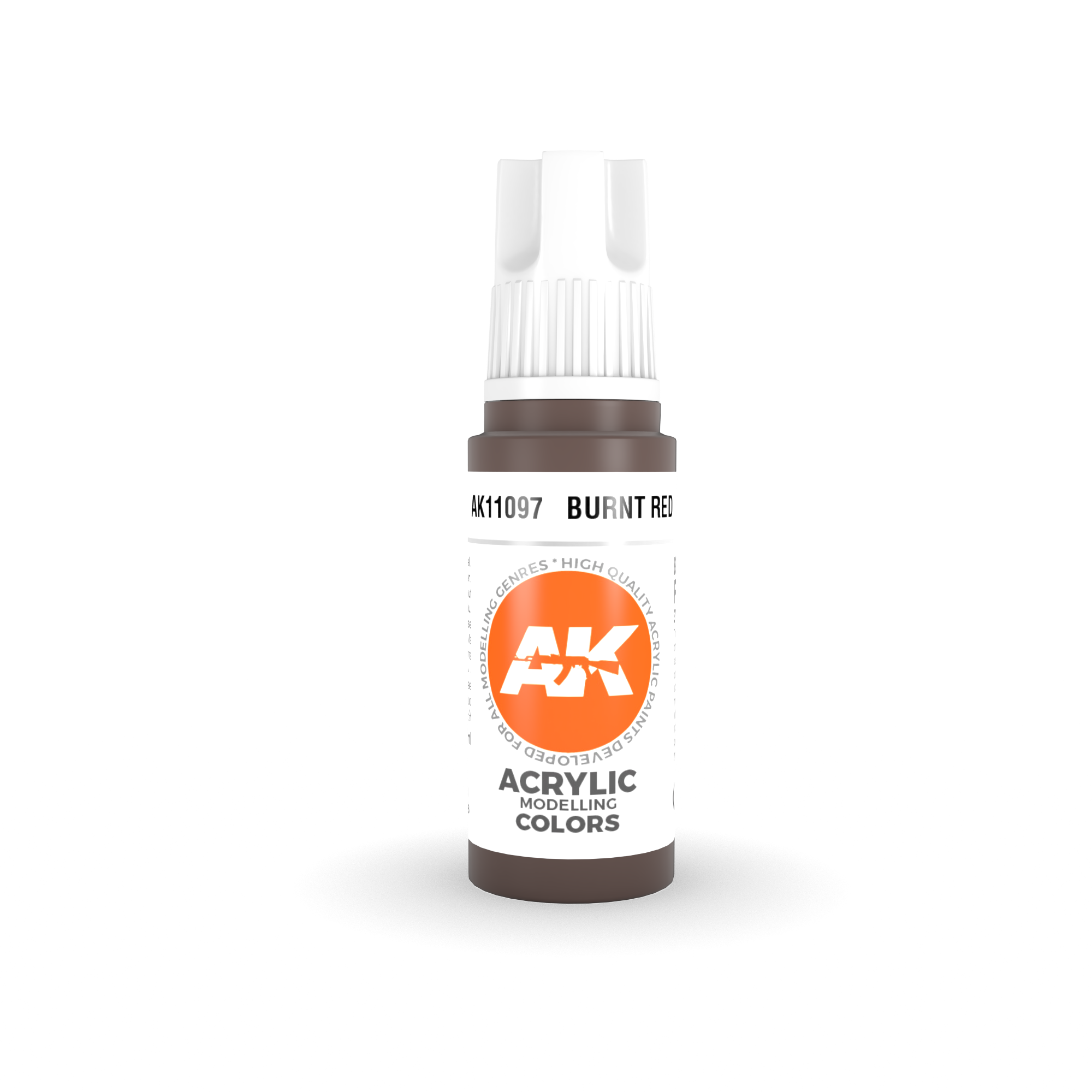 AK Interactive 3rd Gen Acrylic Burnt Red 17ml