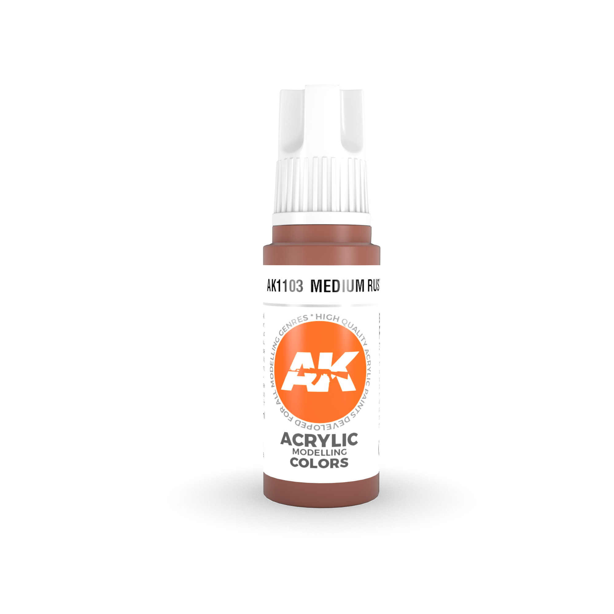 AK Interactive 3rd Gen Acrylic Medium Rust 17ml