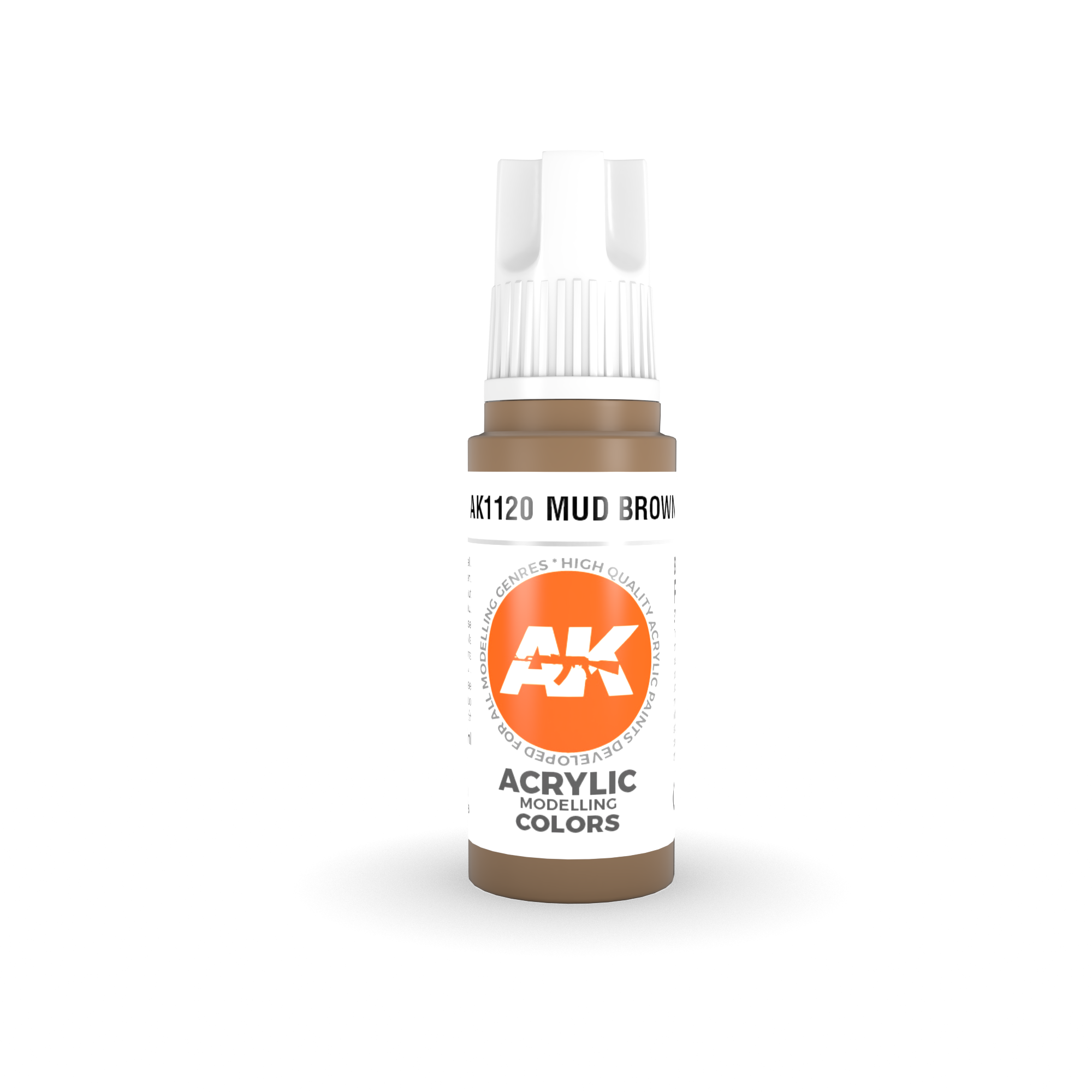 AK Interactive 3rd Gen Acrylic Mud Brown 17ml