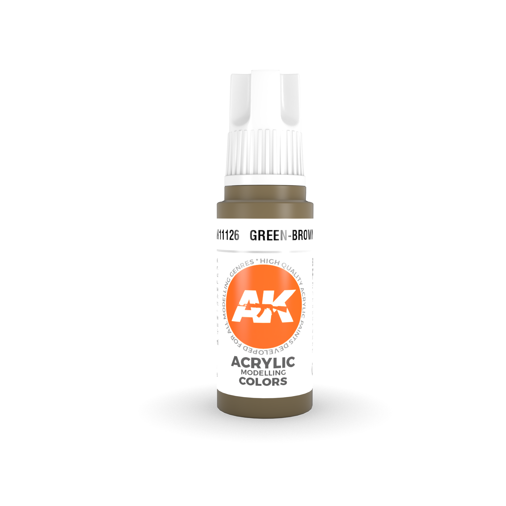 AK Interactive 3rd Gen Acrylic Green-Brown 17ml