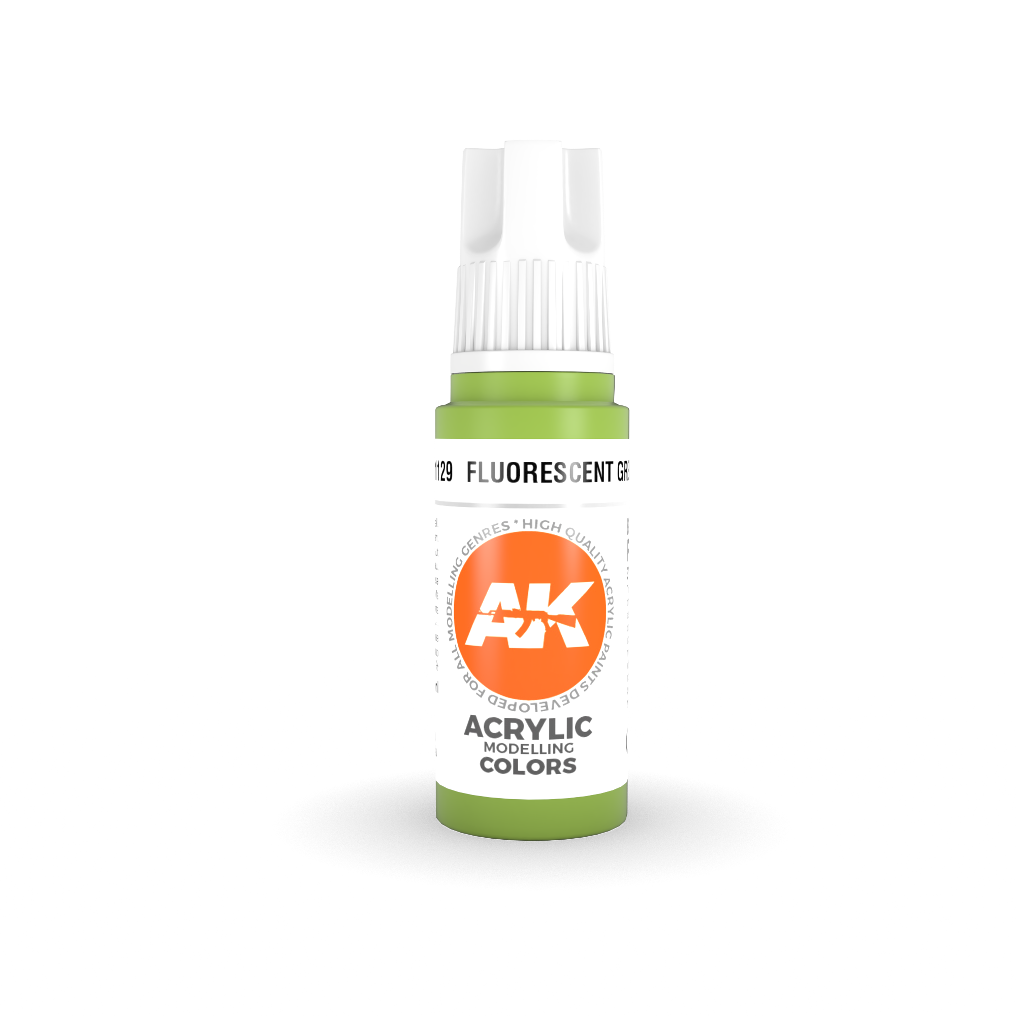 AK Interactive 3rd Gen Acrylic Fluorescent Green 17ml
