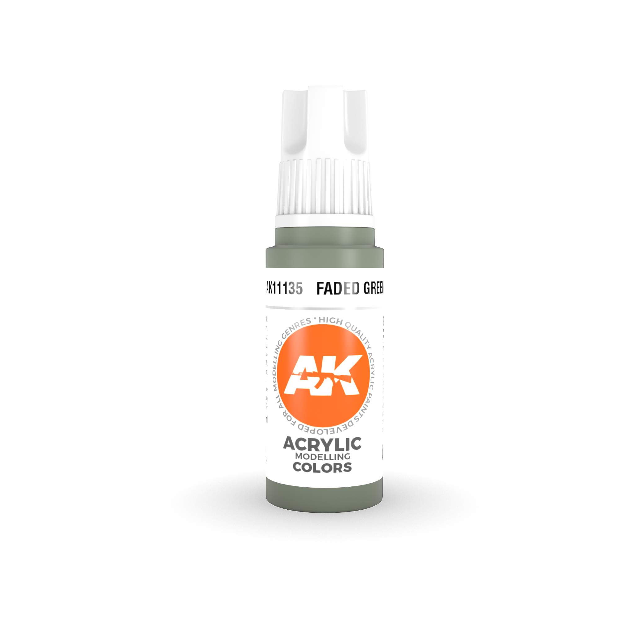 AK Interactive 3rd Gen Acrylic Faded Green 17ml