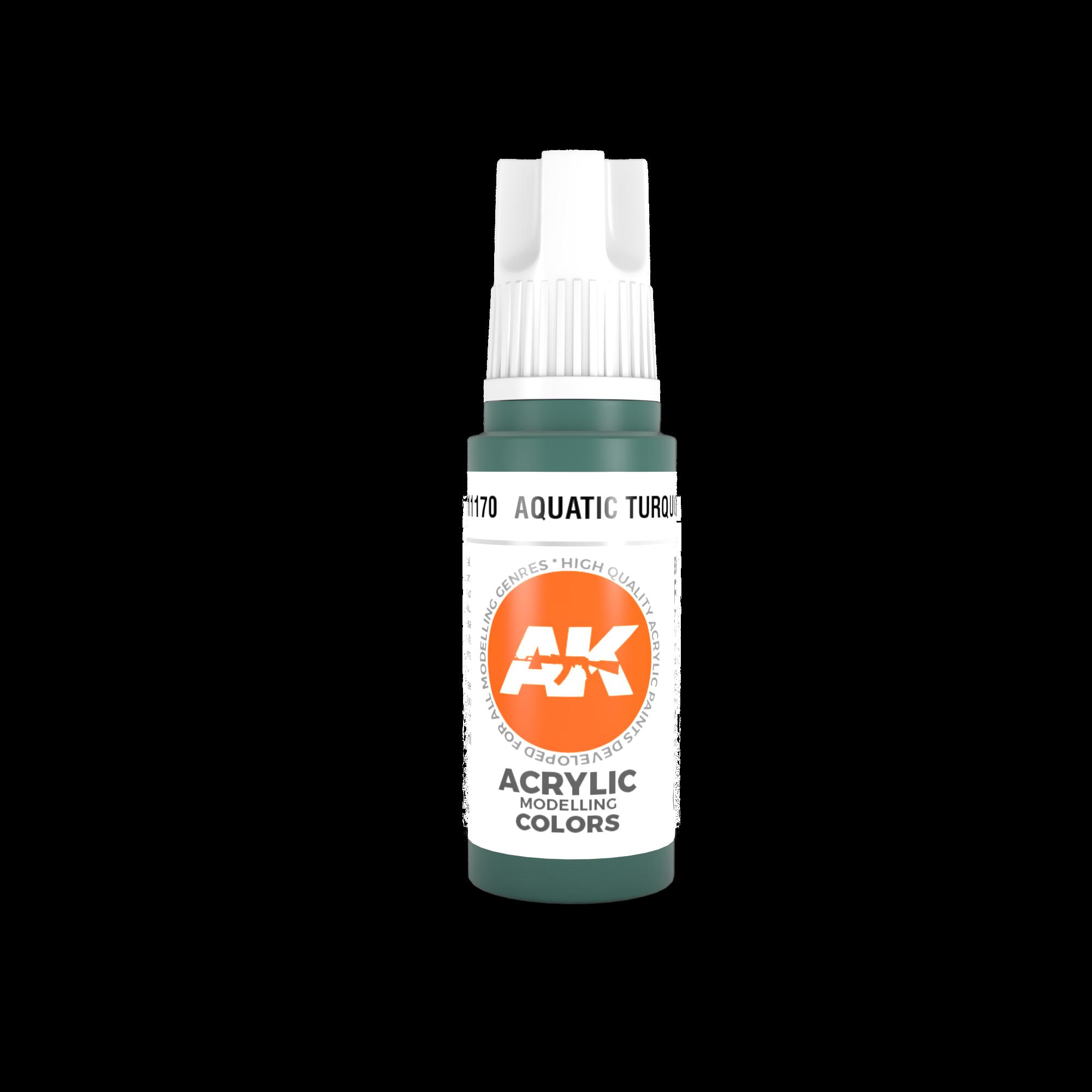 AK Interactive 3rd Gen Acrylic Aquatic Turquoise 17ml