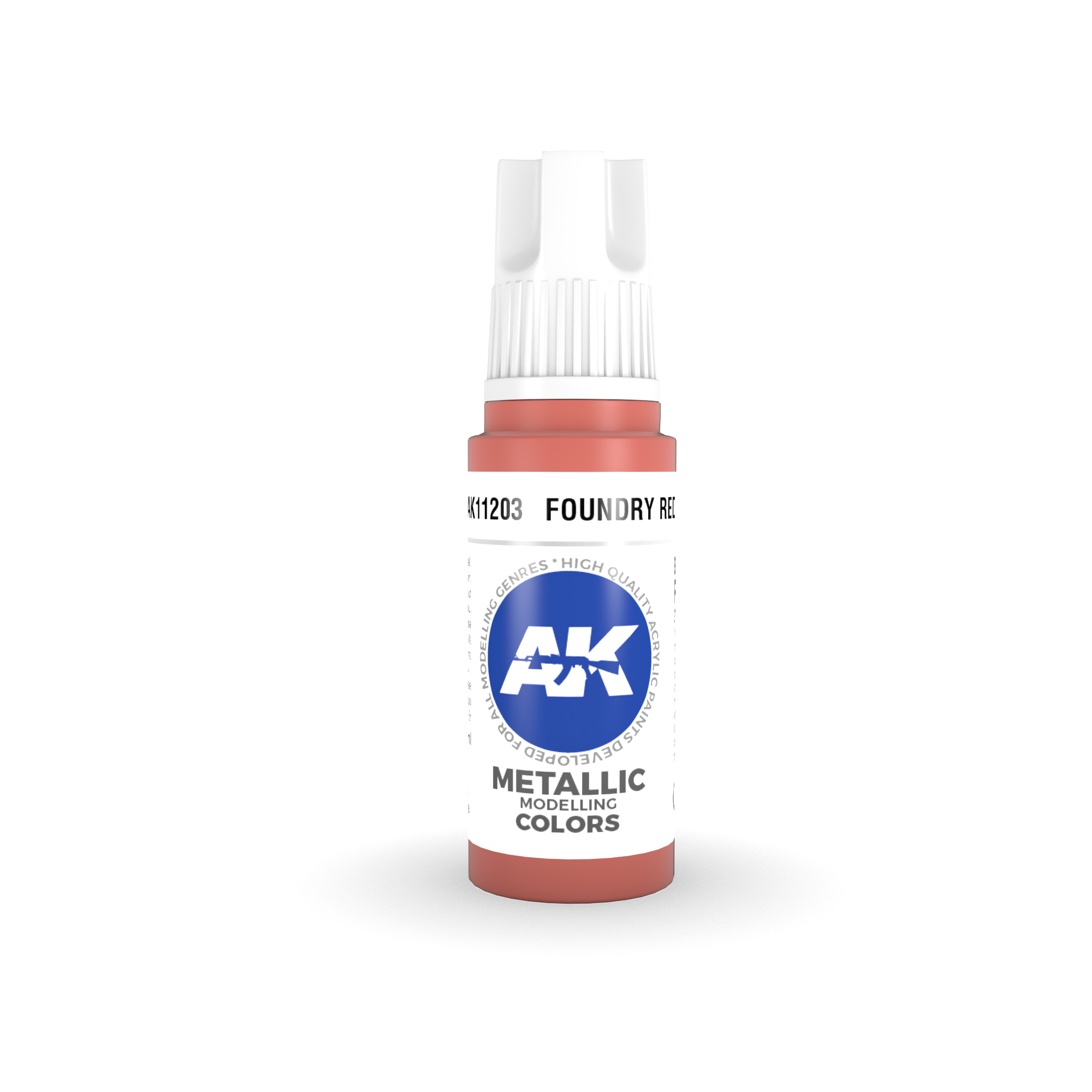 AK Interactive 3rd Gen Acrylic Foundry Red 17ml