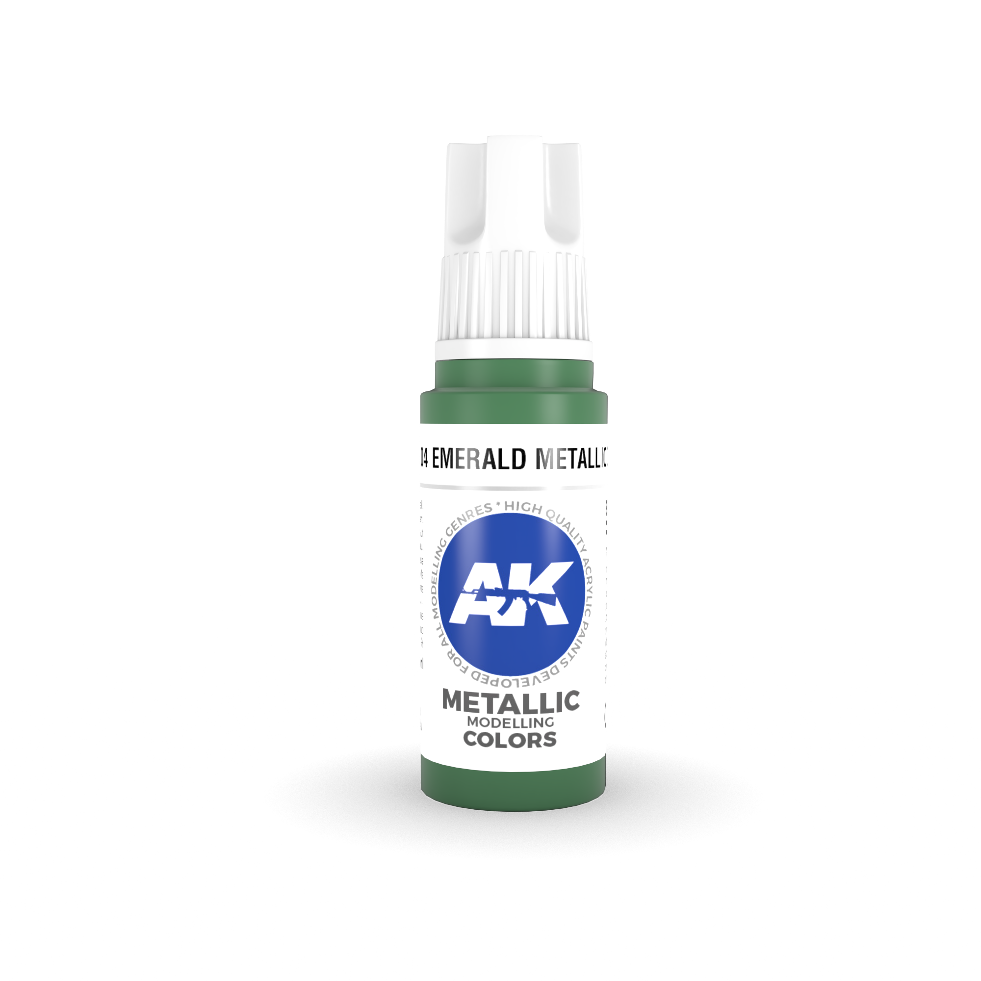 AK Interactive 3rd Gen Acrylic Emerald Metallic Green 17ml