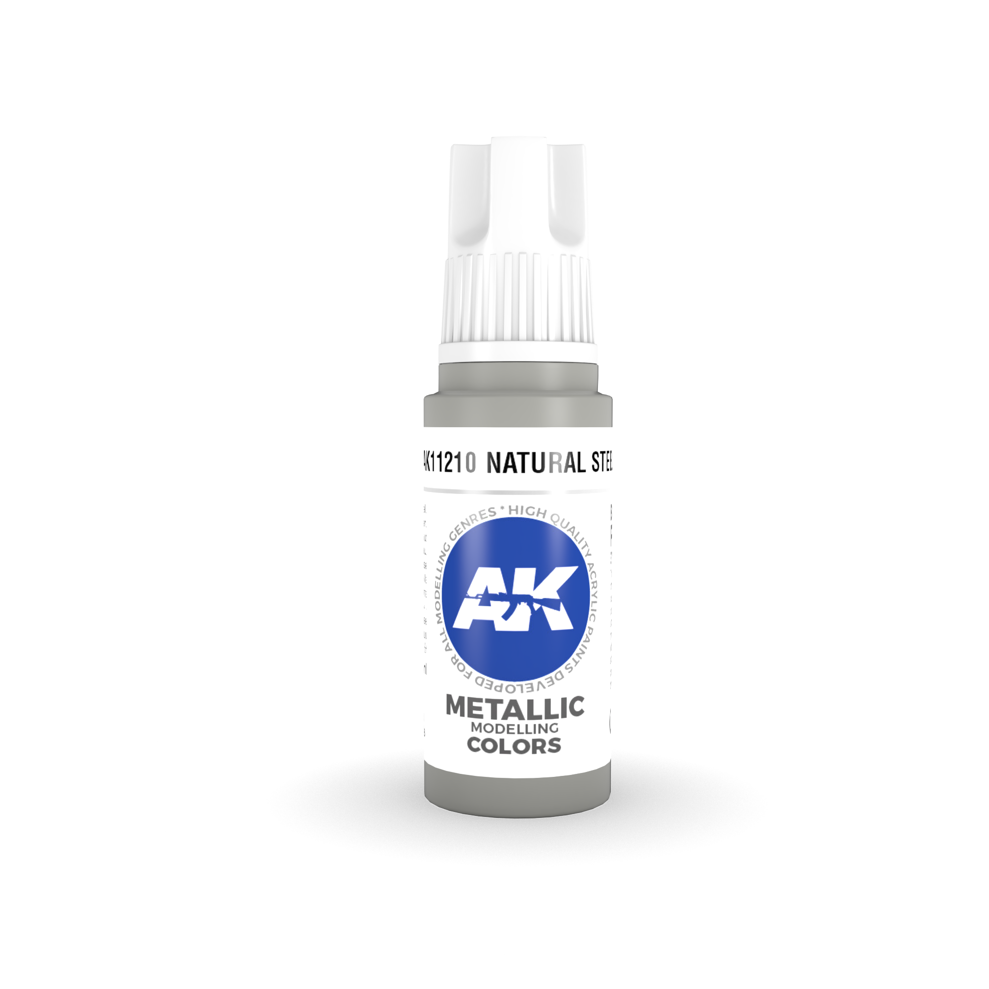 AK Interactive 3rd Gen Acrylic Natural Steel 17ml