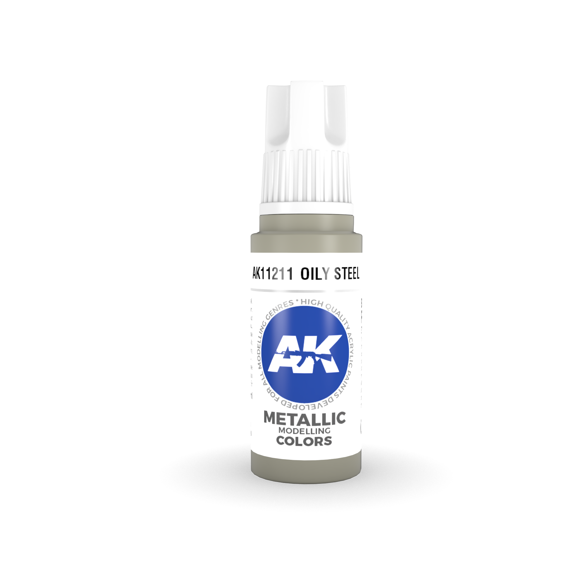 AK Interactive 3rd Gen Acrylic Oily Steel 17ml