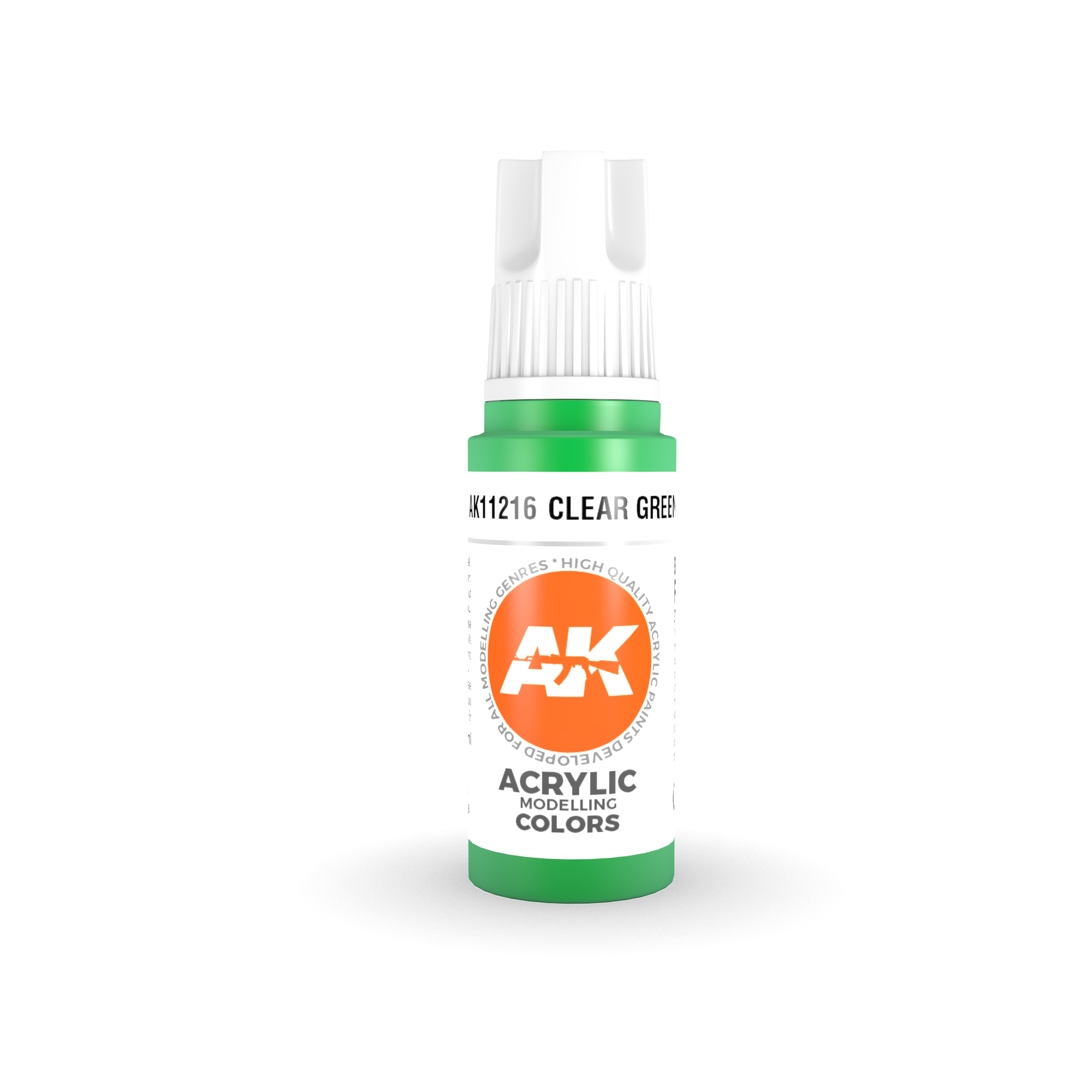 AK Interactive 3rd Gen Acrylic Clear Green 17ml