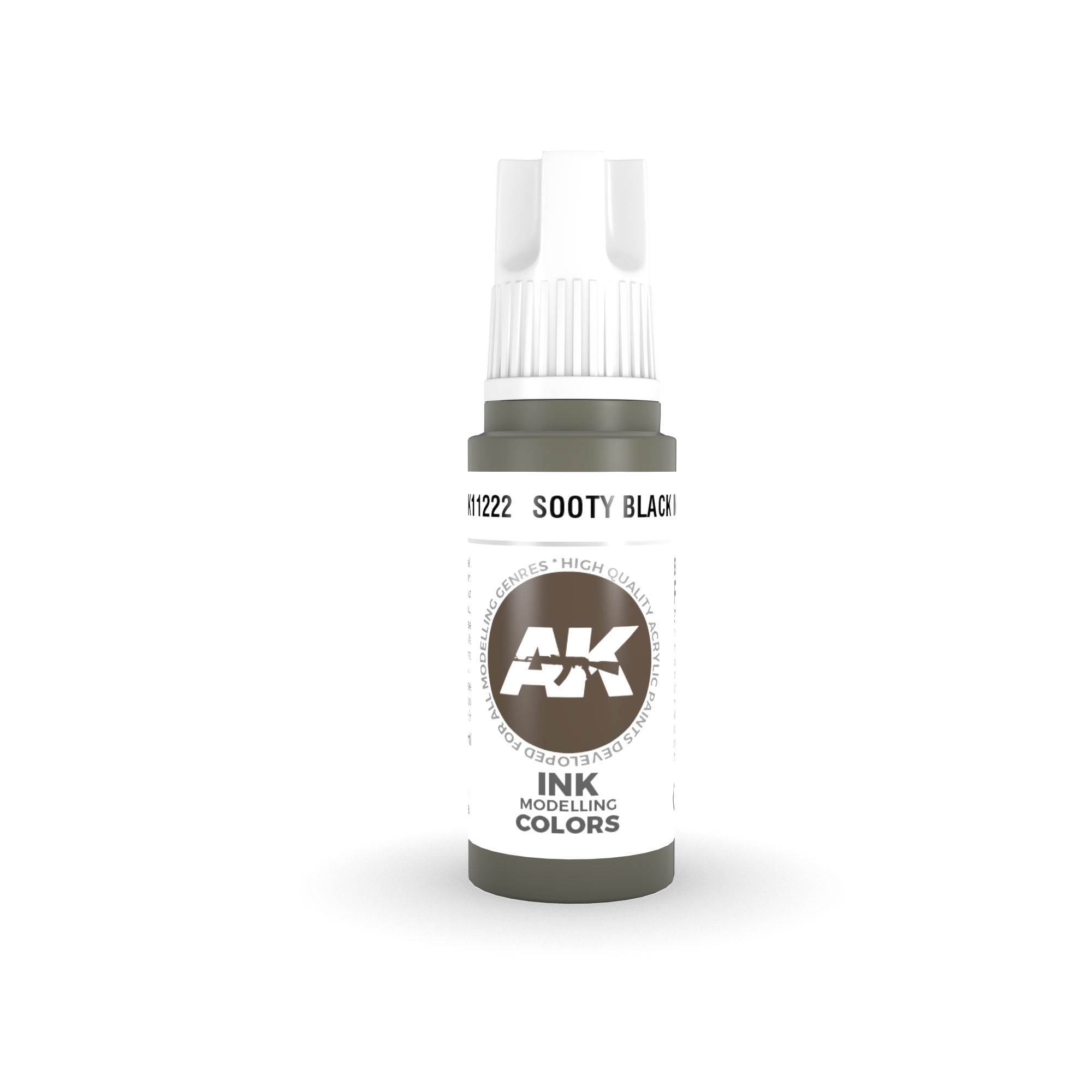 AK Interactive 3rd Gen Acrylic Sooty Black INK 17ml