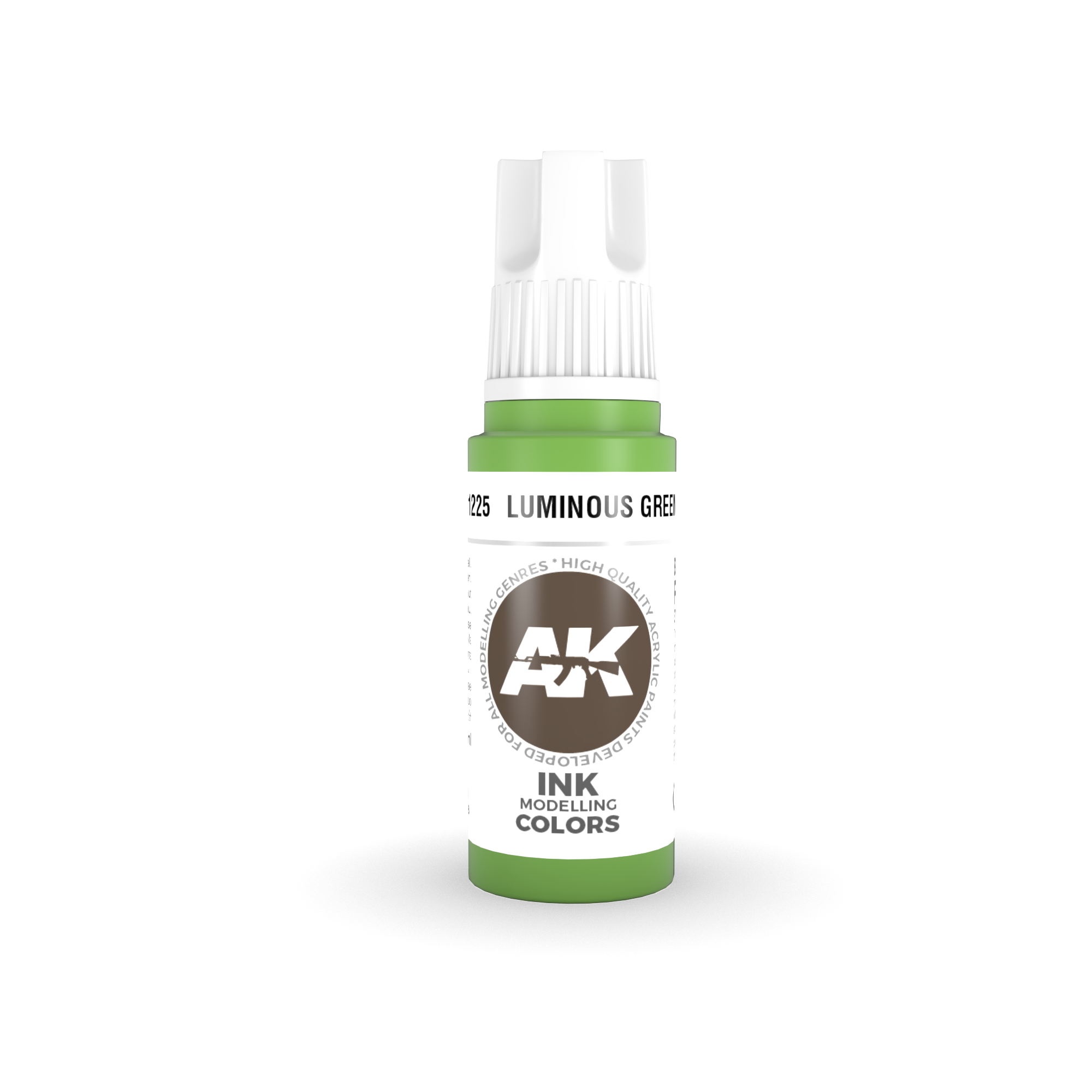 AK Interactive 3rd Gen Acrylic Luminous Green INK 17ml