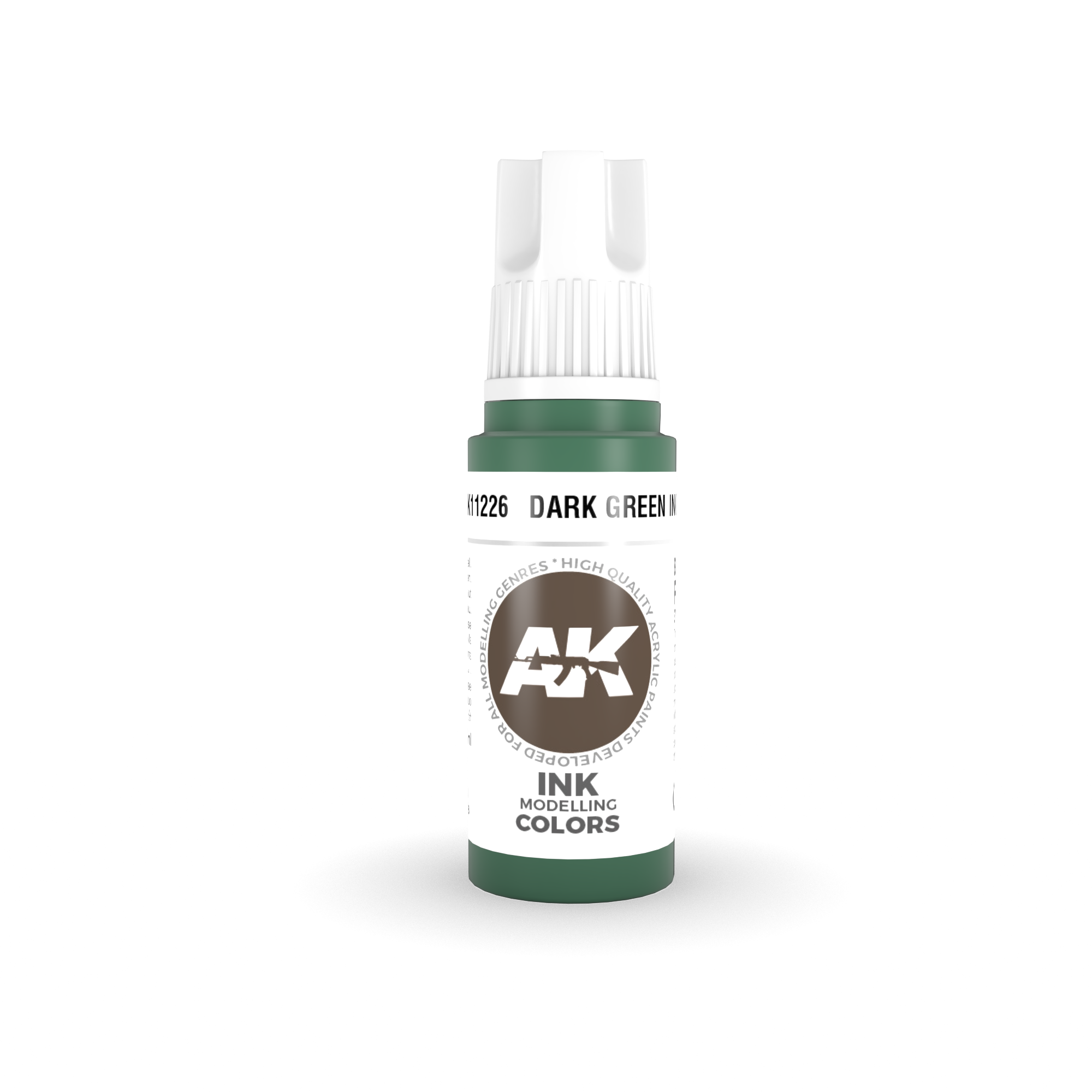 AK Interactive 3rd Gen Acrylic Dark Green INK 17ml