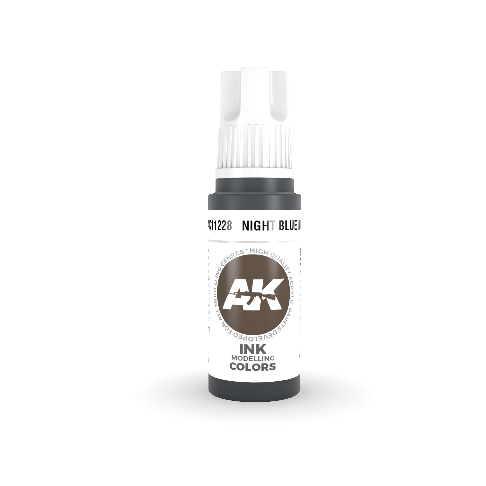 AK Interactive 3rd Gen Acrylic Night Blue INK 17ml