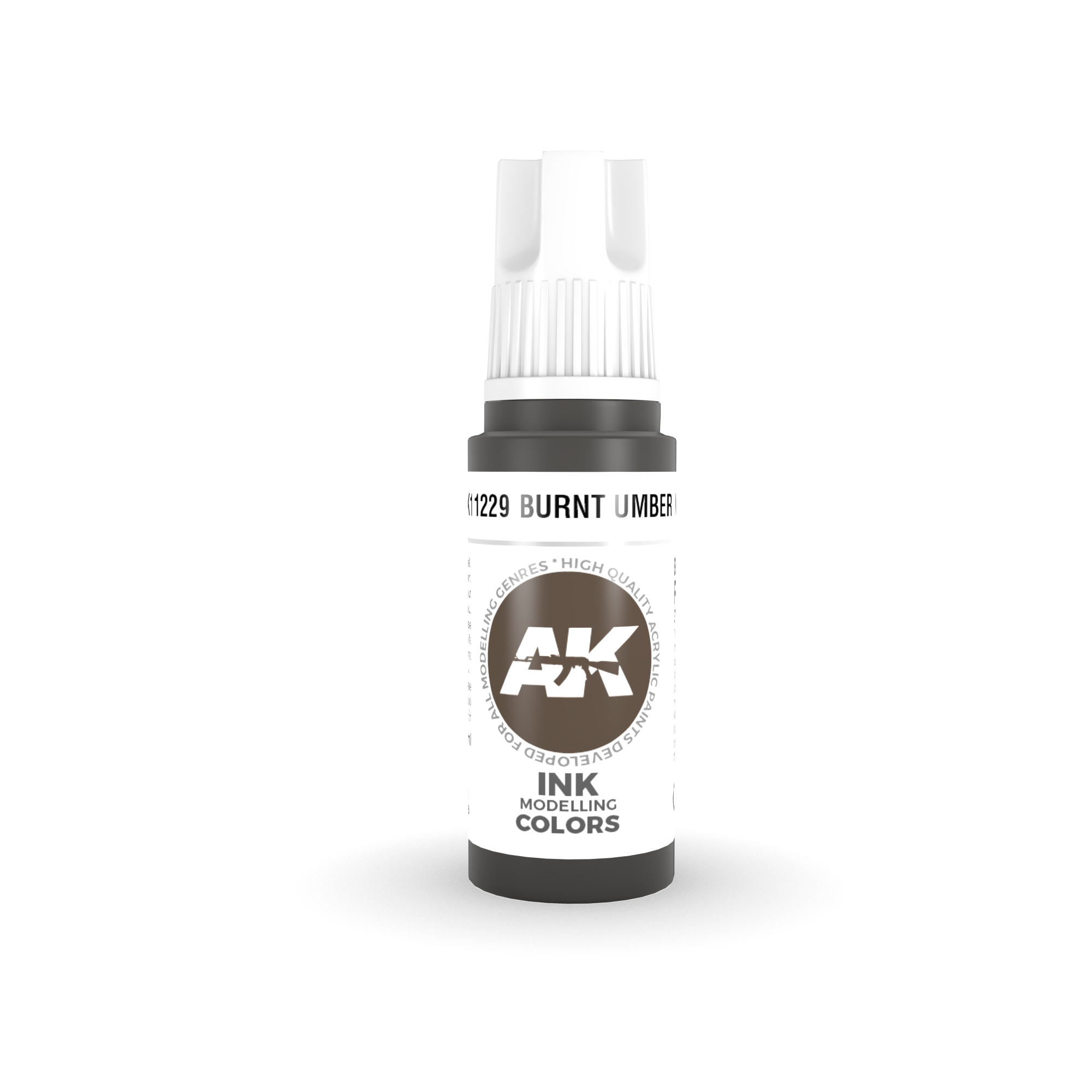 AK Interactive 3rd Gen Acrylic Burnt Umber INK 17 ml