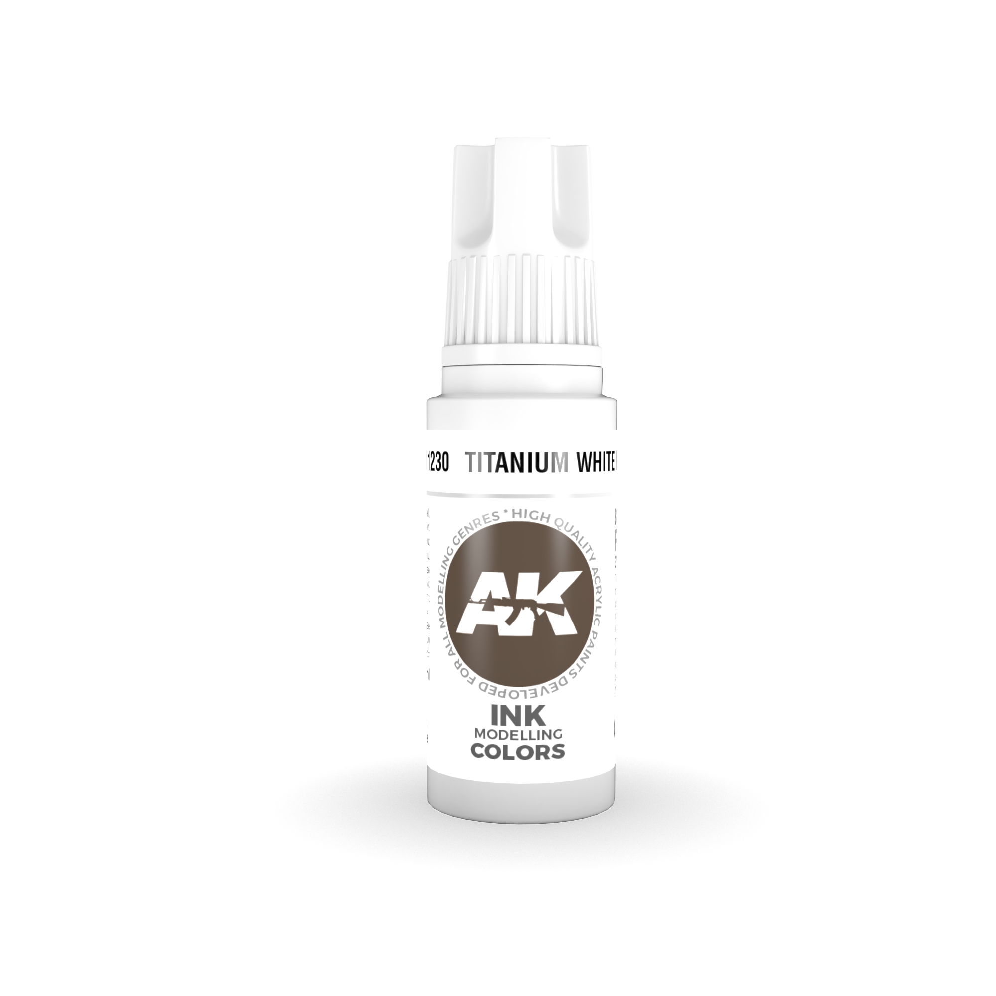 AK Interactive 3rd Gen Acrylic Titanium White INK 17ml