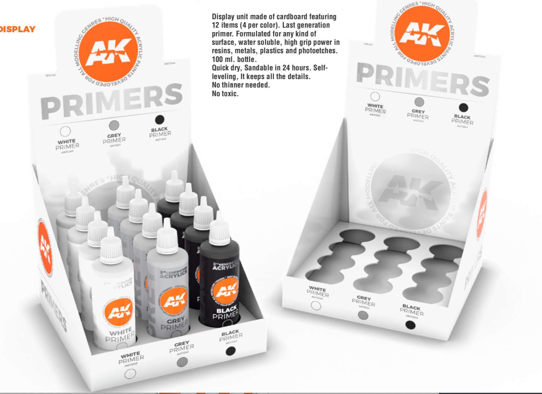 AK Interactive 3rd Gen Primers Display (3 ref x 4 units)