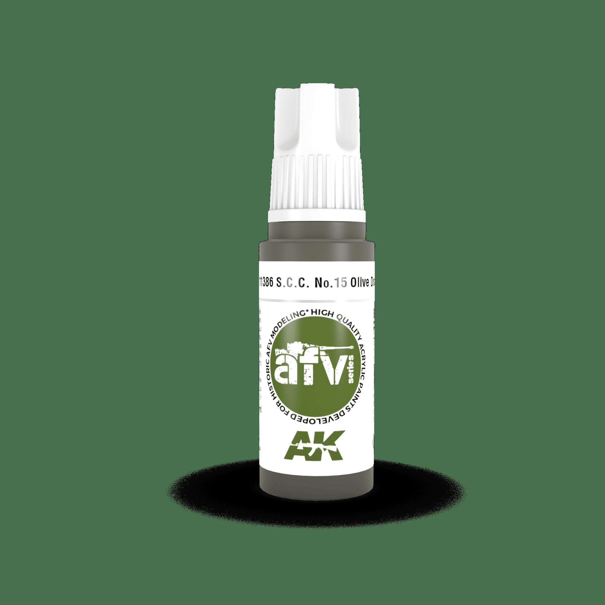 AK Interactive 3G S.C.C. No.15 Olive Drab