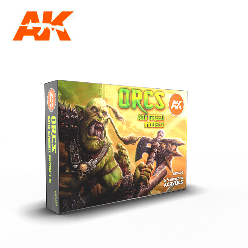 AK Interactive 3G Orcs And Green Creatures