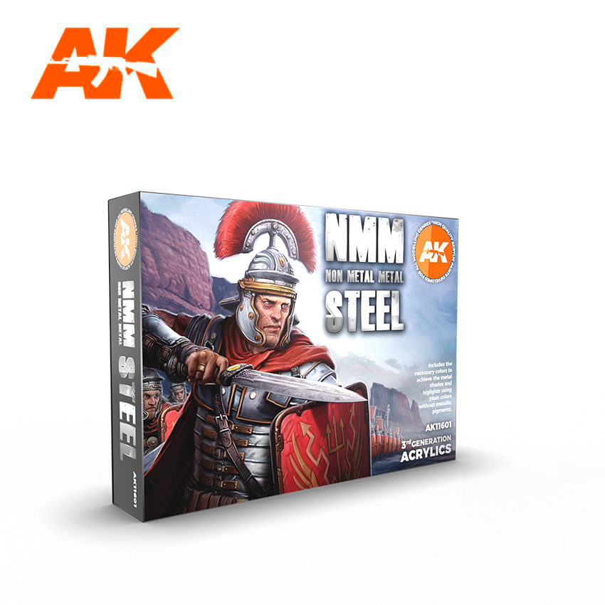 AK Interactive Non Metallic Metal: Steel Set (6 Paints)