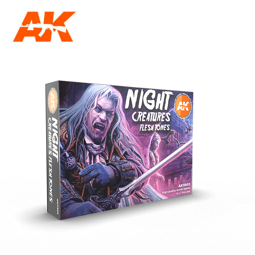AK Interactive 3G Night Creatures Flesh Tones