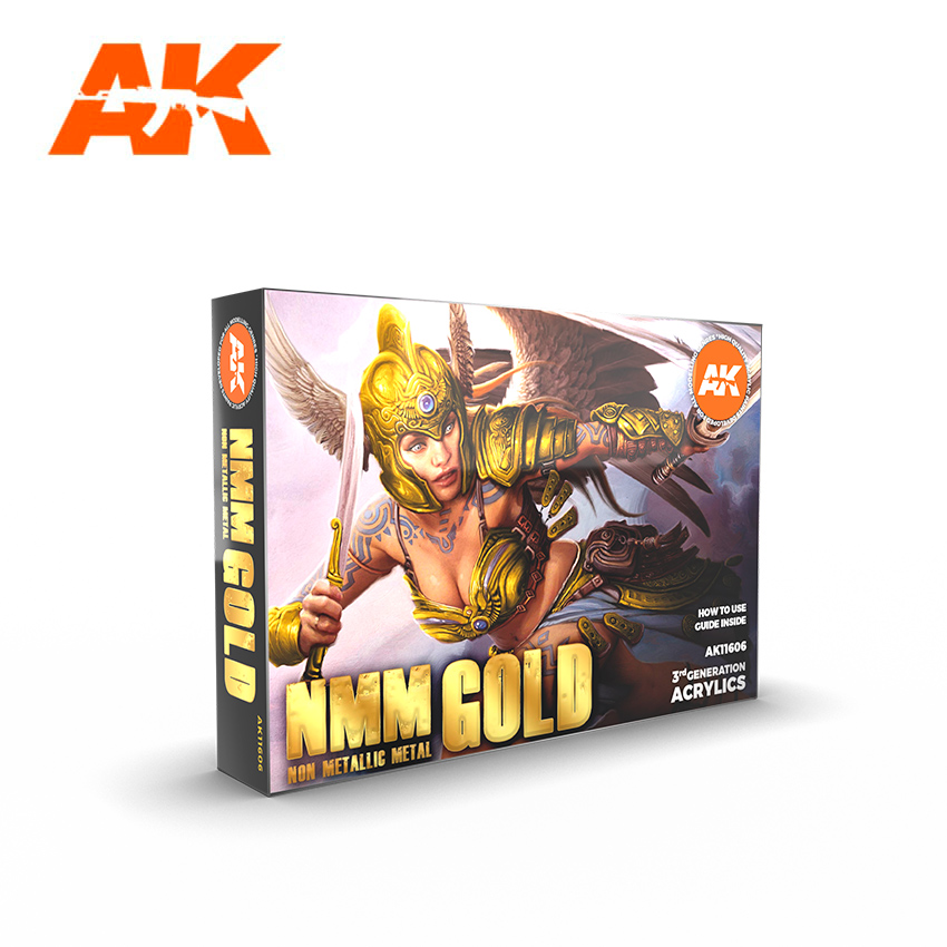 AK Interactive NMM (Non Metallic Metal): Gold Set