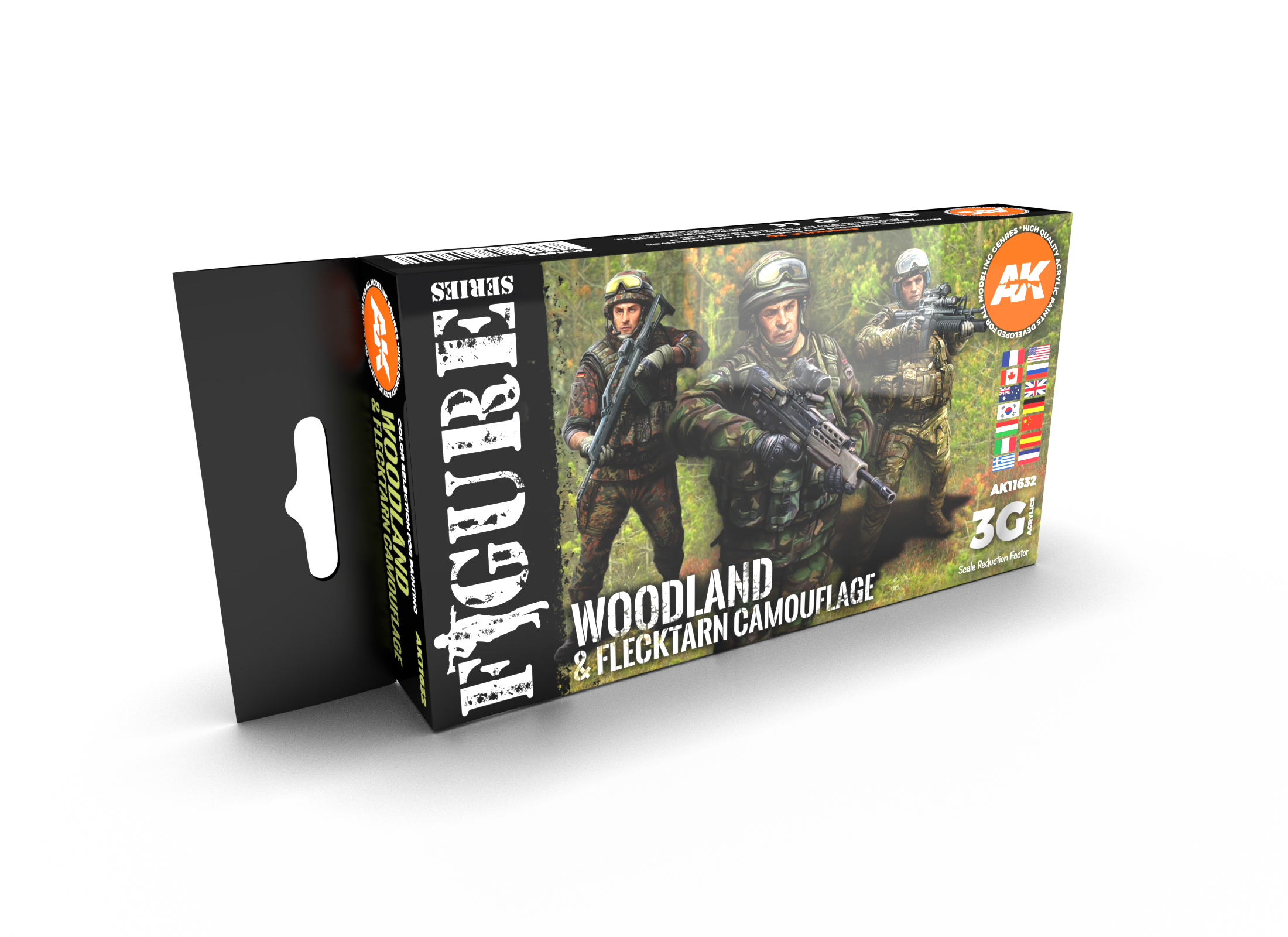 AK Interactive 3G Modern Woodland And Flecktarn Camouflages