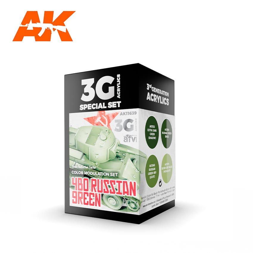 AK Interactive 3G Modulation 4BO Russian Green