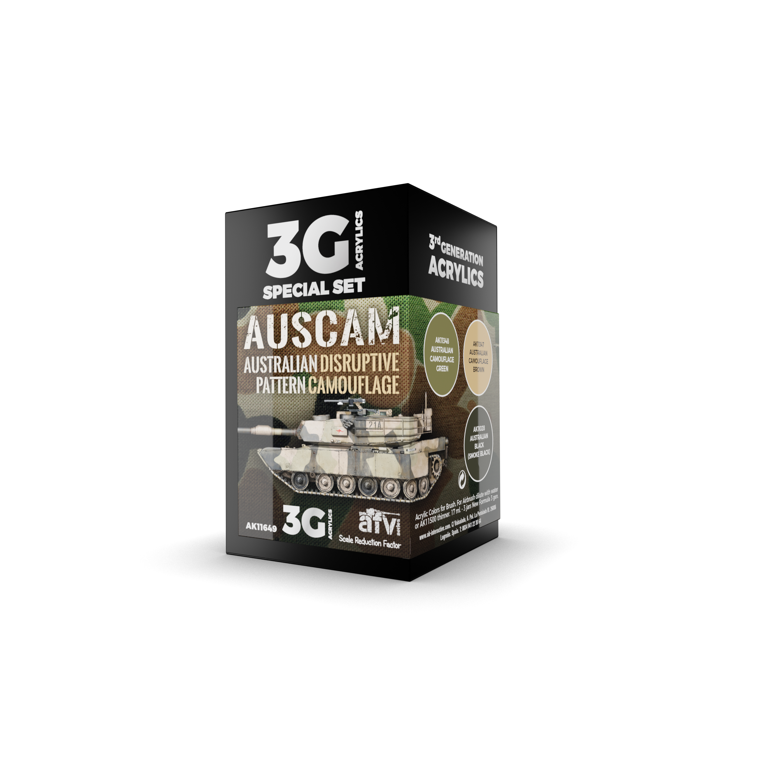 AK Interactive 3G AUSCAM Colors Set