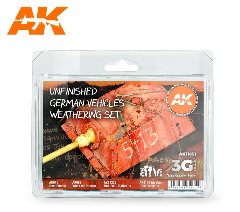 AK Interactive 3G Unfinished German Vehicles Weathering