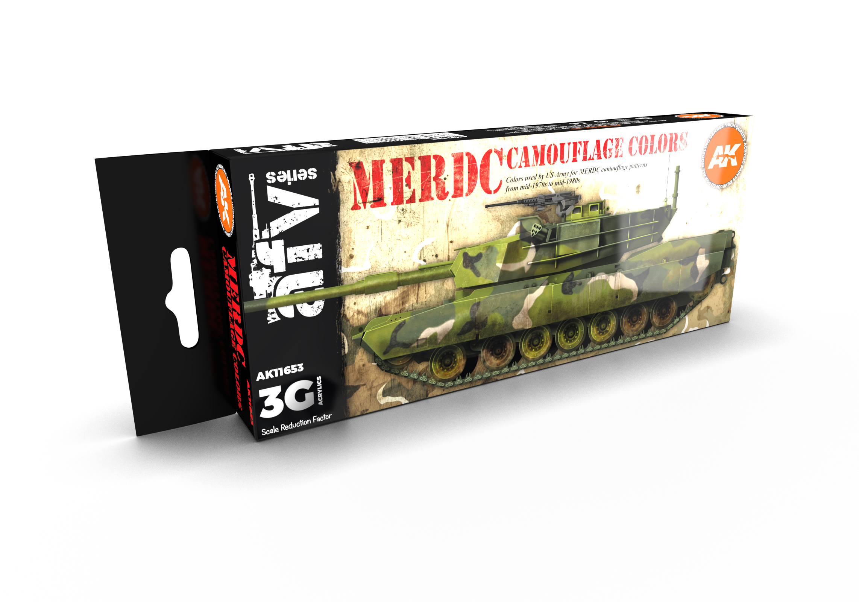 AK Interactive 3G MERDC Camouflage Colors
