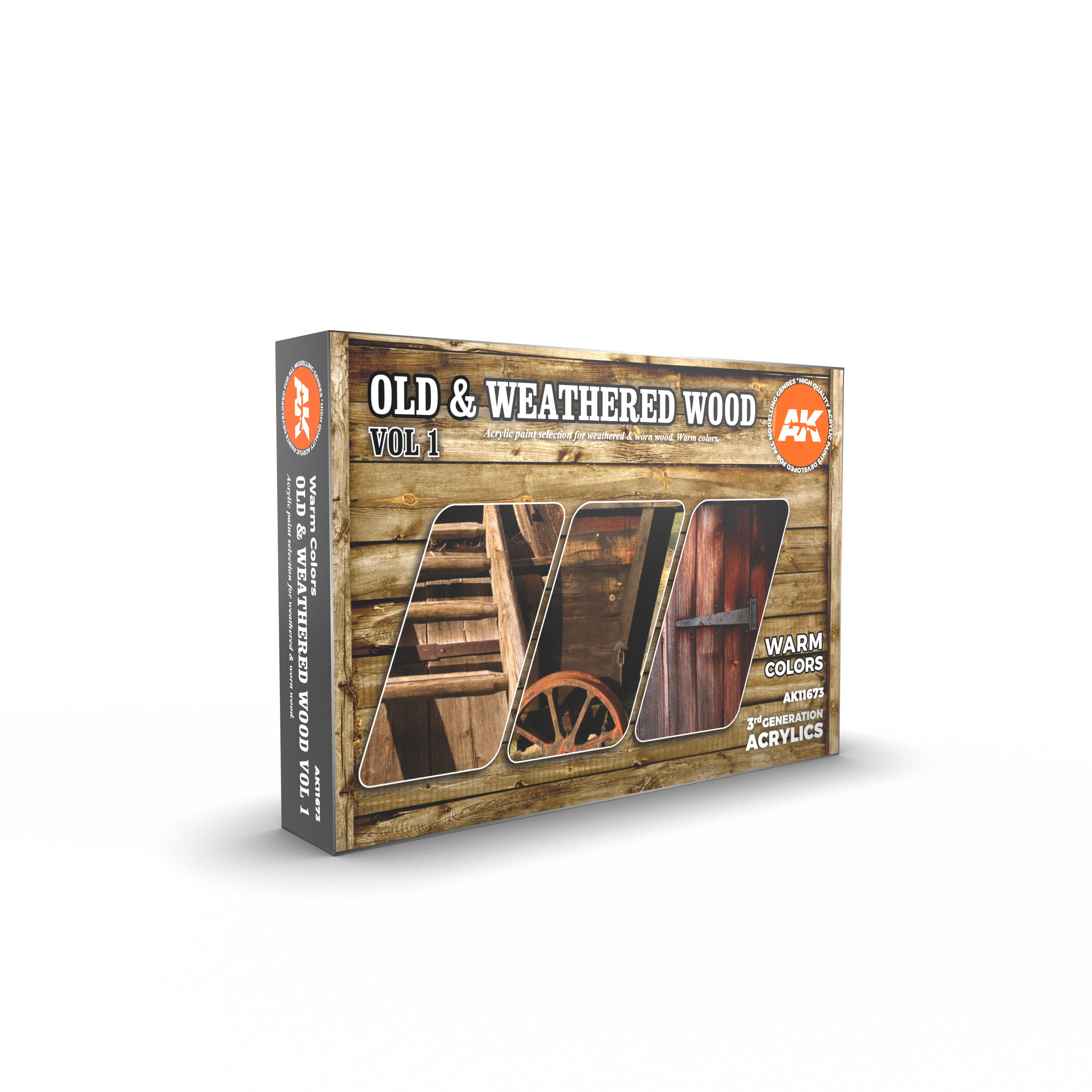 AK Interactive 3G Old & Weathered Wood Vol 1