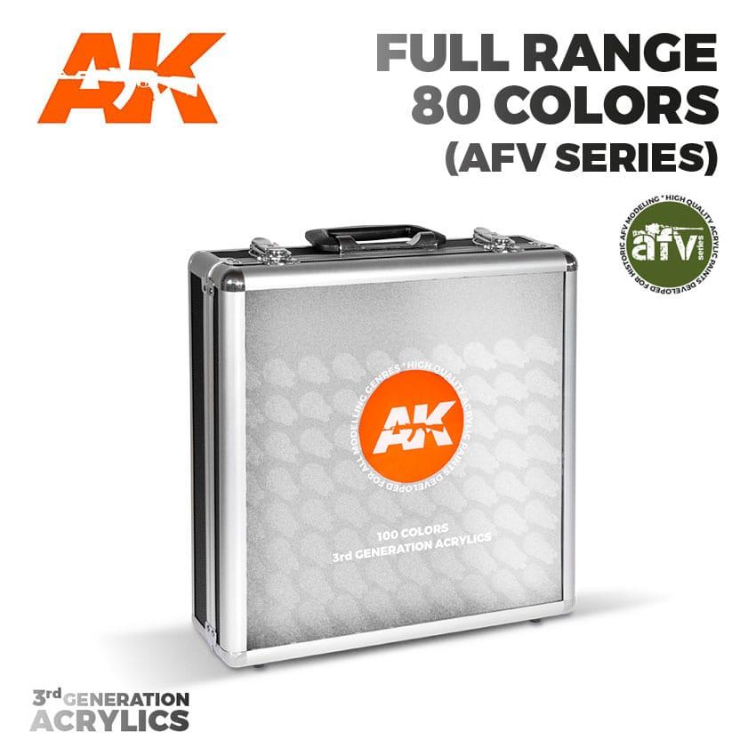 AK Interactive 3G Acrylics Briefcase - Full Range AFV Series, 80 Colours