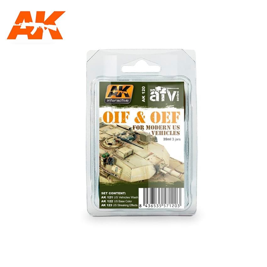 AK Interactive OIF & OEF - US Vehicles Weathering Set