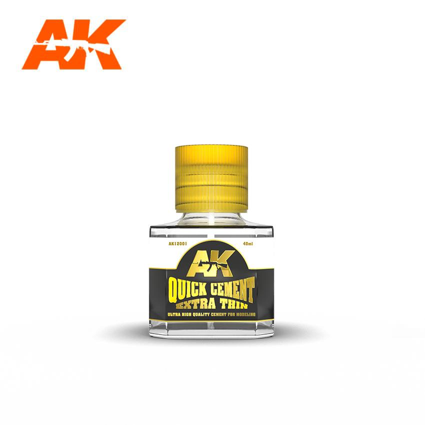 AK Interactive Quick Cement Extra Thin  (Box - 6 Units)