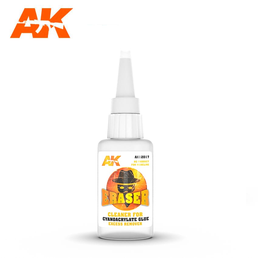 AK Interactive Eraser Cleaner For Cyanocrylate Glue Excess Remover