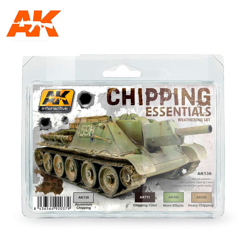 AK Interactive Chipping Essentials Weathering Set