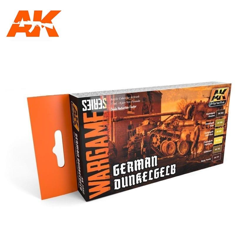AK Interactive German Dunkelgelb Colors Set