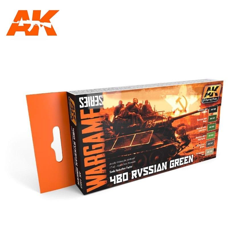 AK Interactive 4BO Russian Green Colors Set