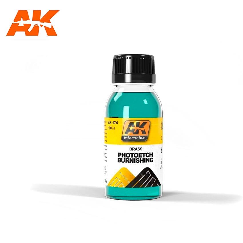 AK Interactive Brush Photoetche Burnishing