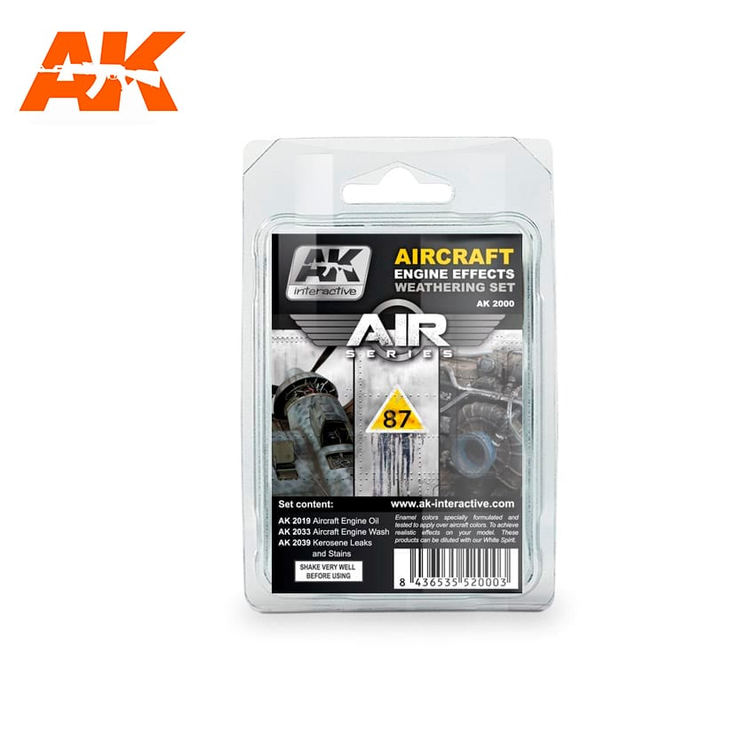 AK Interactive Aircraft Engine Weathering Set