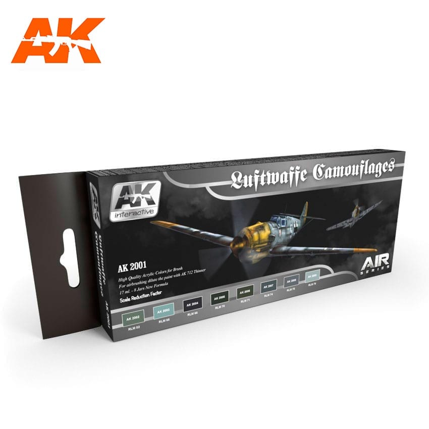 AK Interactive Luftwaffe Camouflages Colors Set