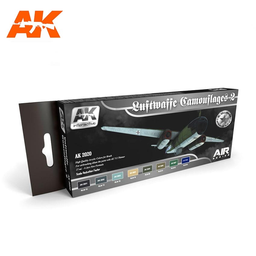 AK Interactive Luftwaffe Camouflages Vol.2 Colors Set