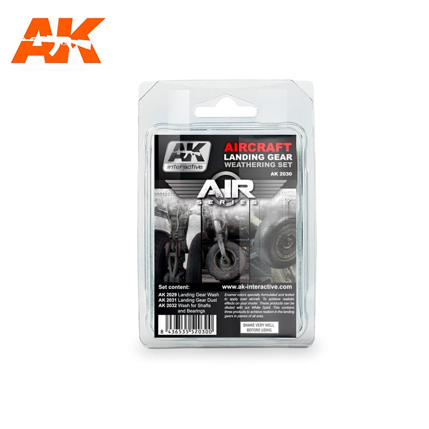 AK Interactive Aircraft Landing Gear Weathering Set