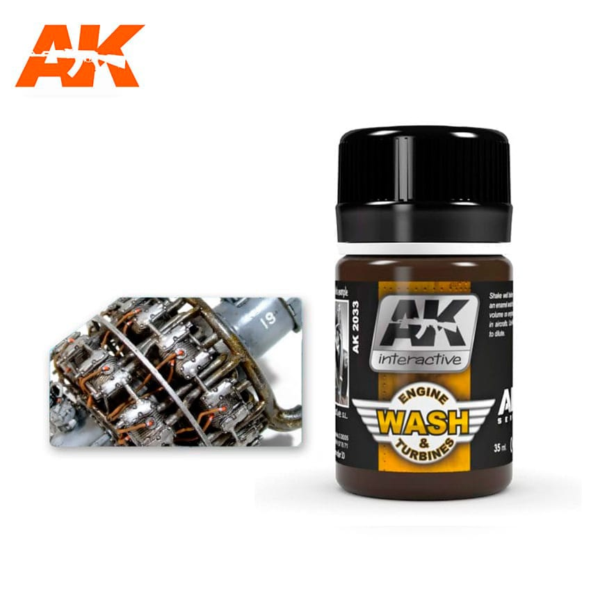 AK Interactive Wash For Aircraft Engine