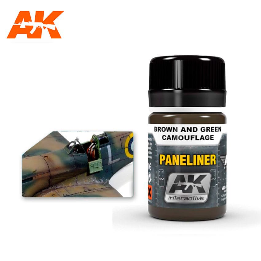 AK Interactive Paneliner For Brown And Green Camouflage 35ml