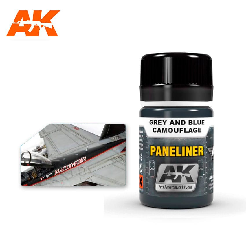 AK Interactive Paneliner For Grey And Blue Camouflage 35ml