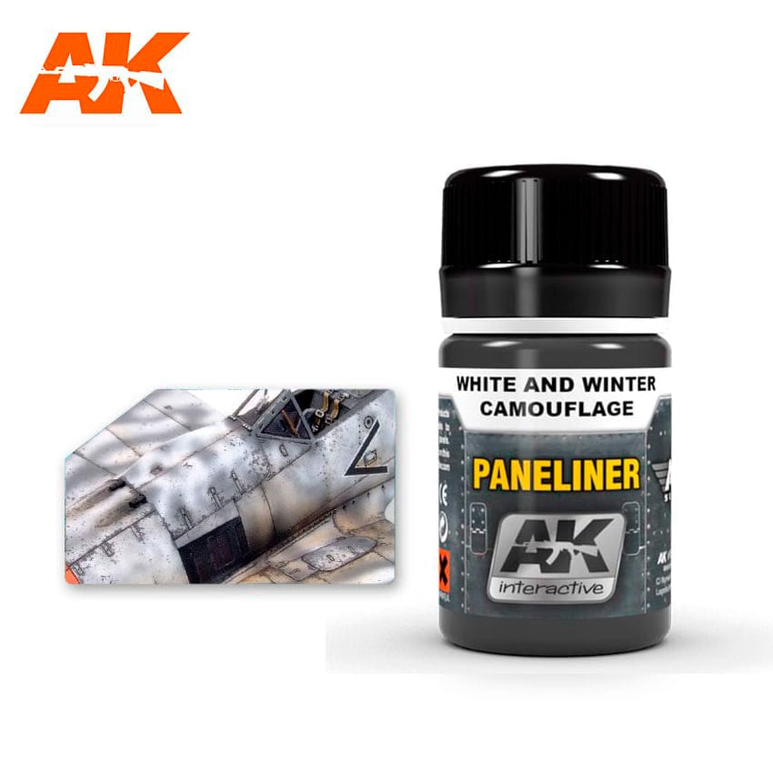 AK Interactive Paneliner For White And Winter Camouflage 35ml