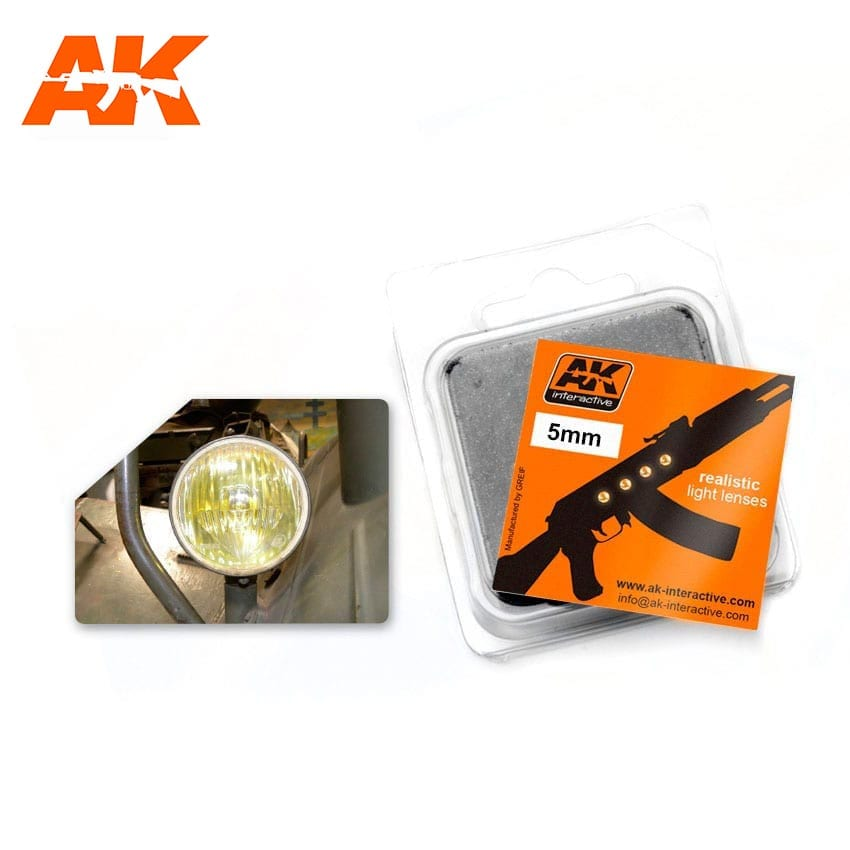 AK Interactive Amber 5mm Lenses