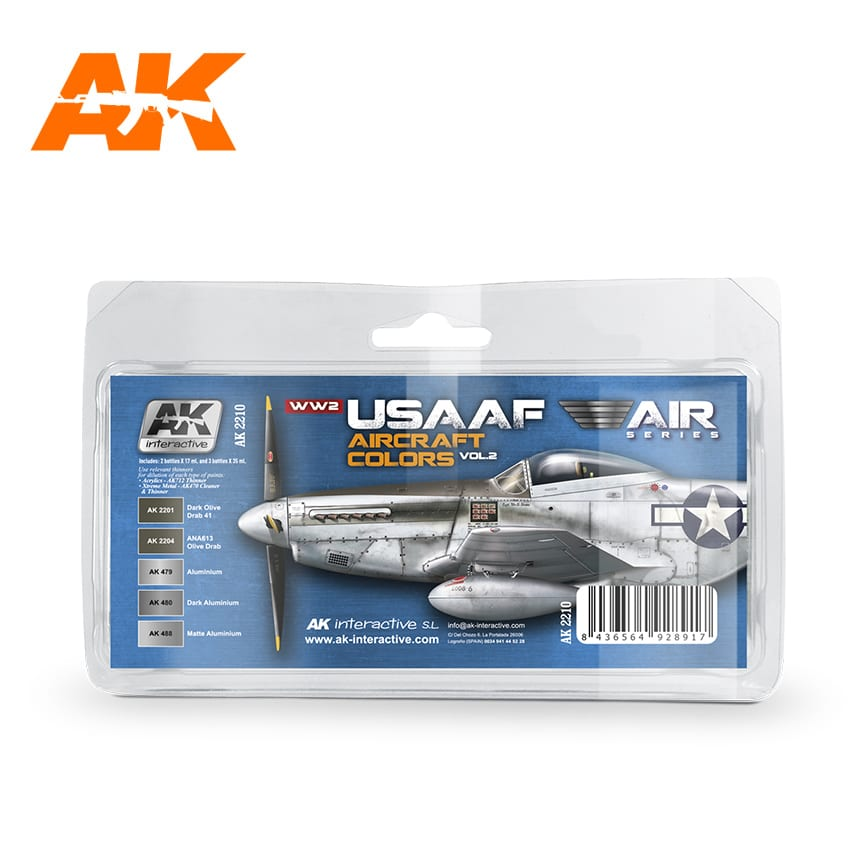 AK Interactive WW2 USAAF Aircraft Colors Vol 2